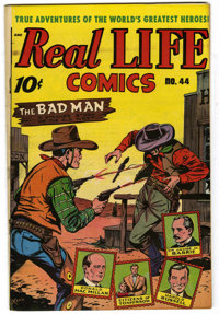 "Real Life Comics #44 Davis Crippen (""D"" Copy) pedigree (Nedor Publications, 1948) Condition: VF+. Alex Schombu..."