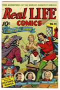 Golden Age (1938-1955):Non-Fiction, Real Life Comics #45 (Nedor Publications, 1948) Condition: VF+.Story of the Olympic Games. Burl Ives and Kit Carson stories...