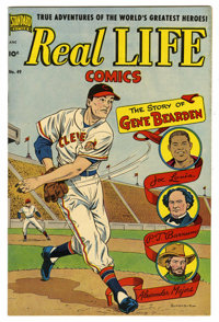 "Real Life Comics #49 Davis Crippen (""D"" Copy) pedigree (Nedor Publications, 1949) Condition: VF/NM. Baseball i..."