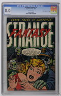 "Golden Age (1938-1955):Horror, Strange Fantasy #7 Davis Crippen (""D"" Copy) pedigree (Farrell,1953) CGC VF 8.0 Off-white pages. Madam Satan/Slave story. Hi..."