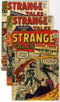 Silver Age (1956-1969):Superhero, Strange Tales Group (Marvel, 1963-68) Condition: Average VG-. Includes #104 (first appearance of the Trapster), 118, 122, 12... (Total: 14 Comic Books)