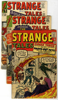 Strange Tales Group (Marvel, 1963-68) Condition: Average VG-. Includes #104 (first appearance of the Trapster), 118, 122...