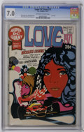"Bronze Age (1970-1979):Romance, Super DC Giant #21 Love 1971 (DC, 1971) CGC FN/VF 7.0 Off-white towhite pages. This issue is ""scarce"" according to Overstre..."