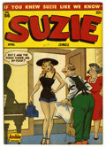 "Golden Age (1938-1955):Humor, Suzie Comics #56 Davis Crippen (""D"" Copy) pedigree (MLJ, 1947) Condition: VF/NM. Al Fagaly cover. Katy Keene stories begin, ..."