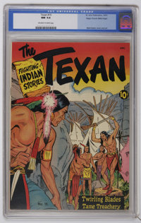 The Texan #15 Mile High pedigree (St. John, 1951) CGC NM 9.4 Off-white to white pages. Matt Baker cover and art. This is...