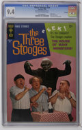 Silver Age (1956-1969):Humor, Three Stooges #24 File Copy (Gold Key, 1965) CGC NM 9.4 Off-white pages. Photo cover. Back cover pin-up. Little Monsters bac...