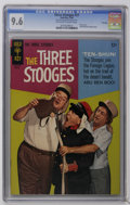 Silver Age (1956-1969):Humor, Three Stooges #27 File Copy (Gold Key, 1966) CGC NM+ 9.6 Off-white to white pages. Photo cover. Little Monsters backup story...
