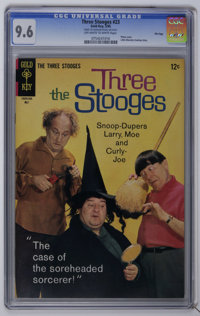 Three Stooges CGC File Copy Group (Gold Key, 1965-66) CGC NM+ 9.6 Off-white to white pages. Includes #23, 27, 30, and 31...