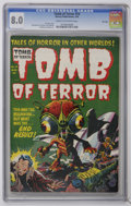 Golden Age (1938-1955):Horror, Tomb of Terror #14 File Copy (Harvey, 1954) CGC VF 8.0 Cream tooff-white pages. Sci-fi issue. Lee Elias cover. Sid Check, B...