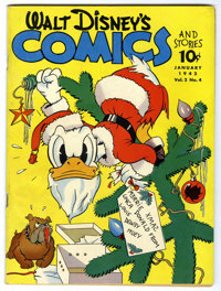 Walt Disney's Comics and Stories #16 (Dell, 1942) Condition: Apparent FN/VF. Christmas cover. 29-page Three Little Pigs...