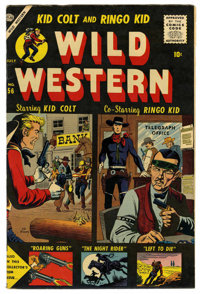 Wild Western #56 Circle 8 pedigree (Atlas, 1957) Condition: VF+. Joe Maneely cover. Matt Baker art. Overstreet 2006 VF 8...