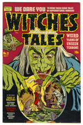 Golden Age (1938-1955):Horror, Witches Tales #3 Mile High pedigree (Harvey, 1951) Condition: VF.Bob Powell art. Overstreet 2006 VF 8.0 value = $148. Fro...