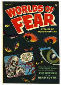 Worlds of Fear #4 Mile High pedigree (Fawcett, 1952) Condition: VF+. Sheldon Moldoff cover. Bob Powell and Mike Sekowsky...