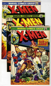 X-Men Group (Marvel, 1972-75). Includes X-Men #89 (VF), 90 (VF/NM), 91 (VF/NM), and 92 (NM-); Giant-Size X-Men #2 (F...