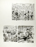 """Original Comic Art:Panel Pages, Jack Davis - Mad 84 Special Page Original Art (EC, 1984). Jack Davis spotlights scenes of """"New National Parks For a Growing ..."""