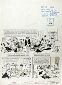 "Mort Drucker - Mad #89, Complete 5-page Story ""The Mad Academy Awards For Parents"" Original Art (EC, 1964). Mo..."
