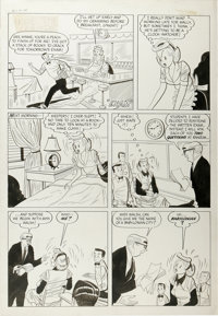 """Vic Herman - Love Stories of Mary Worth #1, Complete 2-page """"Winnie the Waitress"""" Story Original Art (Harvey..."""
