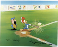 """""""Woody Gets a Hit"""" Limited International Edition Hand Painted Cel #9/25 Original Art (Walter Lantz Productions..."""