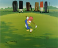 "Animation Art:Limited Edition Cel, ""Golfing Fool"" Limited Edition Hand Painted Cel #87/100 OriginalArt (Walter Lantz Productions, 1992). Woody takes a swing, ...(Total: 2 Item)"