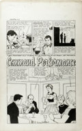 "Original Comic Art:Complete Story, George Tuska (attributed) - True-Bride-To-Be Experiences #32, Complete 5-page Story ""Command Performance"" Original Art (Harvey..."