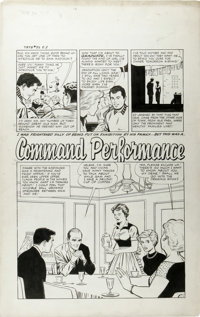 "George Tuska (attributed) - True-Bride-To-Be Experiences #32, Complete 5-page Story ""Command Performance"" Orig..."