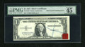Error Notes:Obstruction Errors, Fr. 1619 $1 1957 Silver Certificate. PMG Choice Extremely Fine 45EPQ.. ...