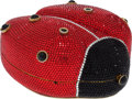 Luxury Accessories:Bags, Judith Leiber Full Bead Red & Black Ladybug Crystal MinaudiereEvening Bag. ... (Total: 2 Items)