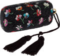 Luxury Accessories:Bags, Judith Leiber Full Bead Black & Multicolor Floral CrystalMinaudiere Evening Bag. ... (Total: 2 Items)
