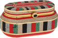 Luxury Accessories:Bags, Judith Leiber Full Bead Red, Black, & Green Crystal MinaudiereEvening Bag. ... (Total: 2 Items)