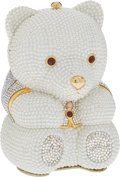 Luxury Accessories:Bags, Judith Leiber Full Bead Pearl Crystal Teddy Bear Minaudiere EveningBag. ... (Total: 2 Items)