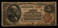 National Bank Notes:Virginia, Danville, VA - $5 1882 Brown Back Fr. 477 The First NB Ch. #(S)1985. ...
