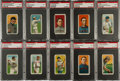 Baseball Cards:Lots, 1909-11 T206 White Borders PSA EX 5 Collection (30) With HoFers....