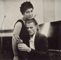 Photographs:20th Century, WILLIAM CLAXTON (American,1927-2008). Chet Baker and Lily,1955. Platinum, printed later. 10 x 10-1/4 inches (25.4 x 26....