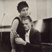 WILLIAM CLAXTON (American,1927-2008) Chet Baker and Lily, 1955 Platinum, printed later 10 x 10-1/