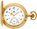 Timepieces:Pocket (post 1900), A. Lange & Sohne D.U.F. Grade Gold Hunters Case, circa 1927....