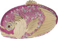 Luxury Accessories:Bags, Judith Leiber Pink Fish Crystal Minaudiere Evening Bag. ... (Total:2 Items)