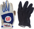 Baseball Collectibles:Others, George Brett and Paul Molitor Signed Batting Gloves....