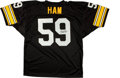 Football Collectibles:Uniforms, Jack Ham Signed Pittsburgh Steelers Jersey....