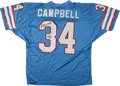 Football Collectibles:Uniforms, Earl Campbell Signed Houston Oilers Jersey....