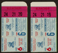 Baseball Collectibles:Tickets, 1960 World Series Game 6 Ticket Stubs Lot of 2. ...