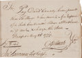 """Autographs:Statesmen, [Revolutionary War]. Oliver Ellsworth Autograph Document Signed""""O Ellsworth"""" as the state attorney for Hartford County...."""