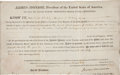 "Autographs:U.S. Presidents, James Monroe Land Grant Signed ""James Monroe"" aspresident...."