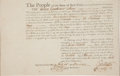 "Autographs:Statesmen, George Clinton Military Appointment Signed ""Geo:Clinton.""..."
