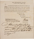 "Autographs:Statesmen, Henry Knox Document Signed ""H Knox"" as secretary of war...."