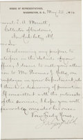 "Autographs:U.S. Presidents, James Garfield Letter Signed ""J. A. Garfield"" with cabinetcard...."