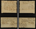 Military & Patriotic:Revolutionary War, [Fort Ticonderoga] and [Revolutionary War]. Collection of Ten PayVouchers from the Capture of Fort Ticonderoga....