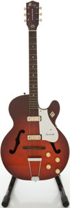 Musical Instruments:Electric Guitars, Circa 1960's Harmony Rocket Redburst Semi-Hollow Body ElectricGuitar....