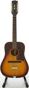 Musical Instruments:Acoustic Guitars, Circa 1967 Gibson B45-12 Sunburst 12 String Acoustic Guitar,#600182....