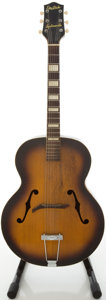 Musical Instruments:Acoustic Guitars, Circa 1940's Gretsch Synchromatic Sunburst Archtop Acoustic Guitar....