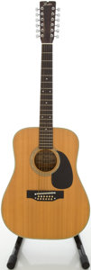 Musical Instruments:Acoustic Guitars, Circa 1978 Fender F-55-12 Natural 12-String Acoustic Guitar, #F7809279....